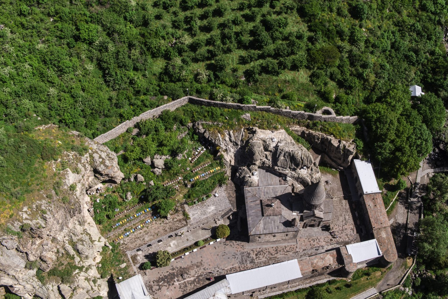 Private Flight to Geghard by Helicopter: cultural tour in Armenia Geghard Monastery