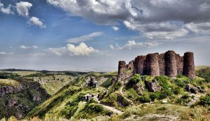 Amberd Fortress. cultural tour in Armenia family trip to Armenia