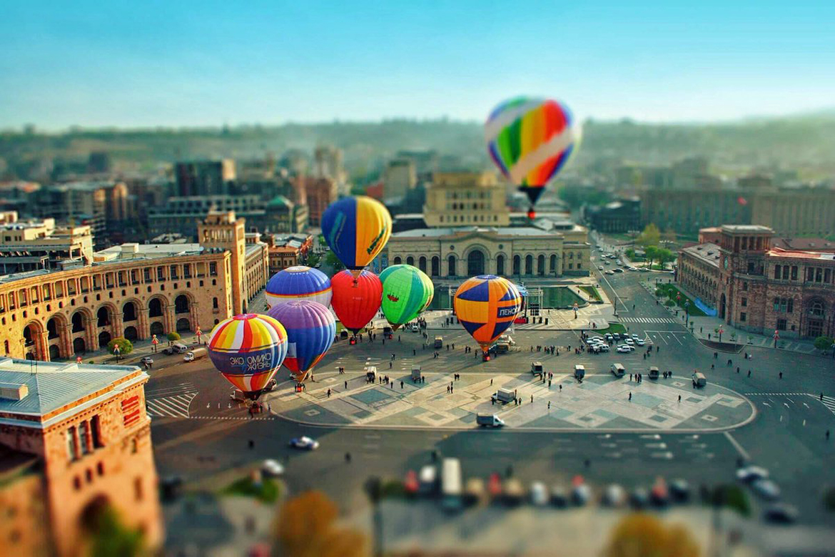 Adventure Holiday in Armenia. Airballoons