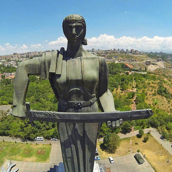 Yerevan city tour solo travel to Armenia Victory Park