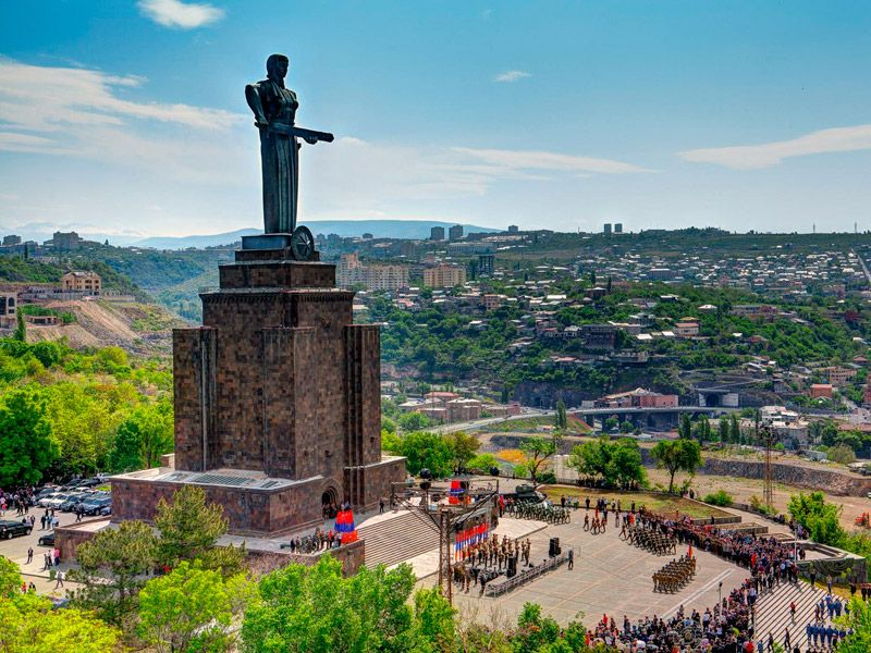 solo travel to Armenia best tours in Armenia tours to Armenia Travel to Armenia Victory Park. Family Holidays in Armenia